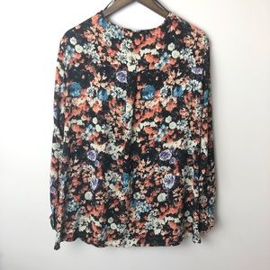 Pleione Tops - Pleione Anthropologie Floral Crossover Blouse
